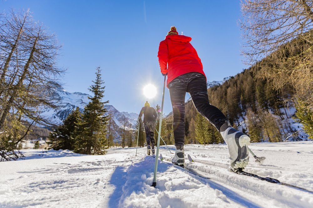 cross country skiing is great outdoor exercise
