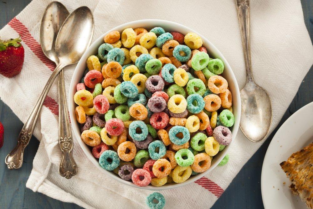 unhealthy sugar loaded cereal