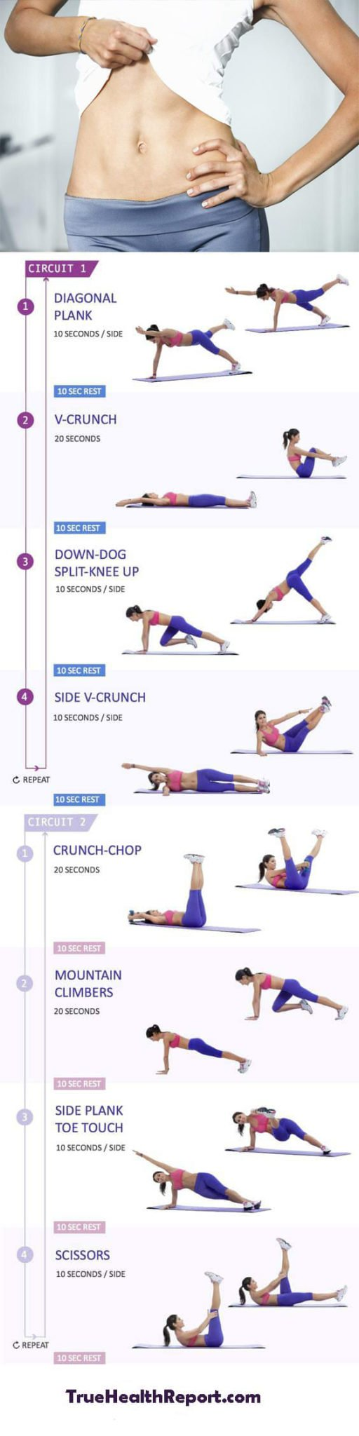 10 minute bikini abs flat belly workout guide