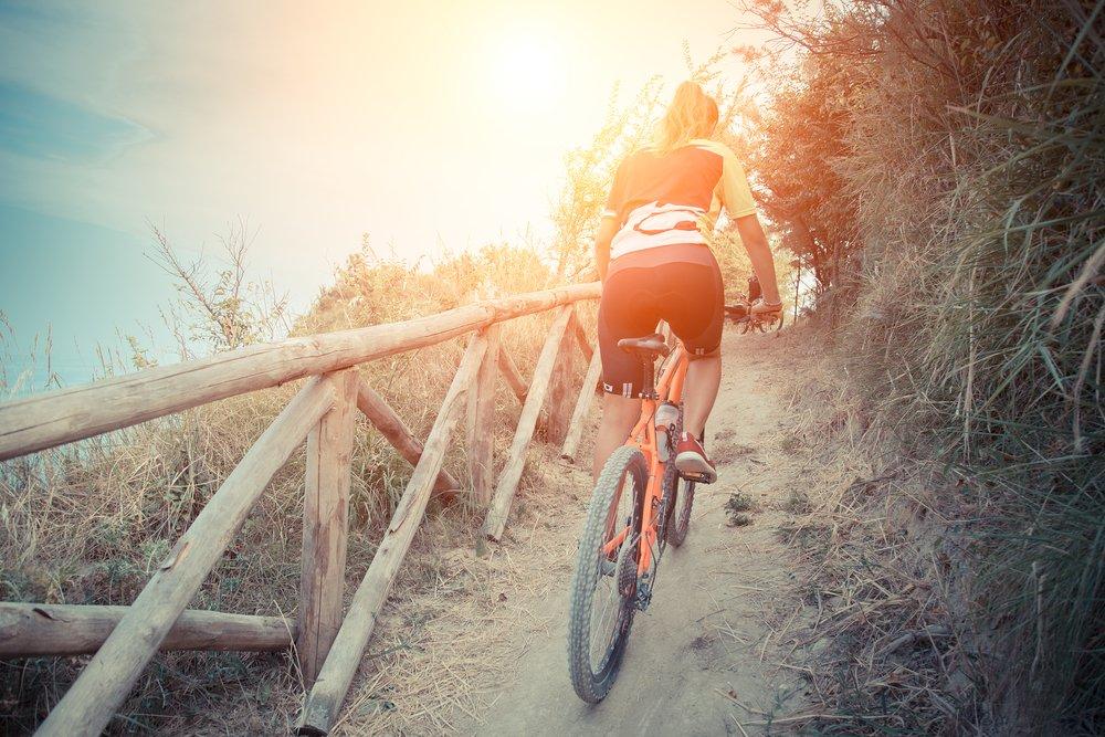 biking burns calories cuts stress