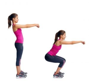 extended squat buttox exercise