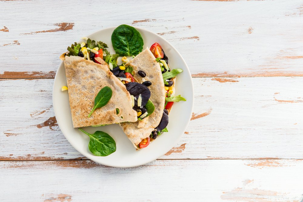 Clean Eating Black Bean Kale Quesadillas