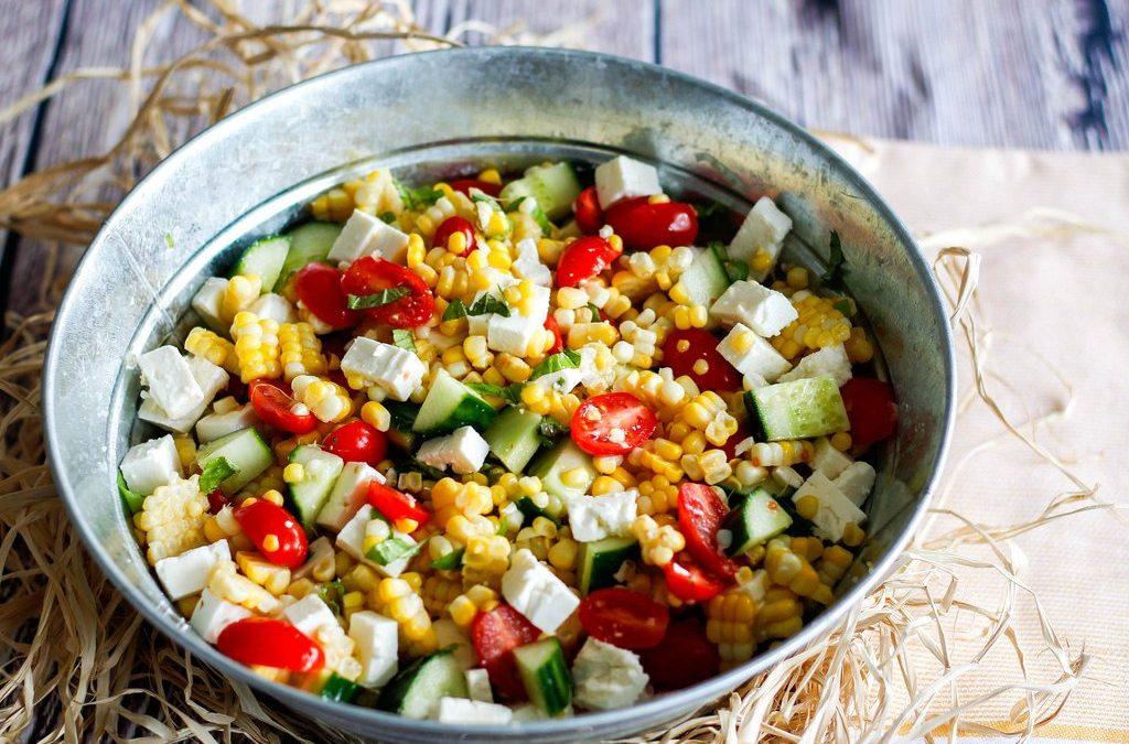 blueberry corn detox salad recipe